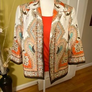 TanJay blazer cool spring colors  like new